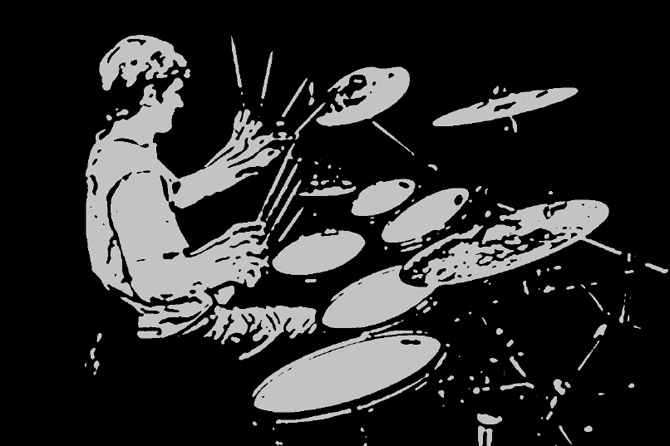 Adam Alton drumming